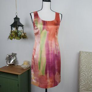 Ann Taylor Satin Sleeveless Shift Dress Sz 0P